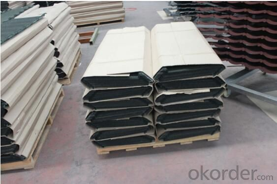 Colorful Stone Single Layer Roof Tile Shingle