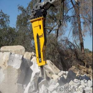 Excavator Mounted Hydraulic Breaker Chisel for Stone Cutting