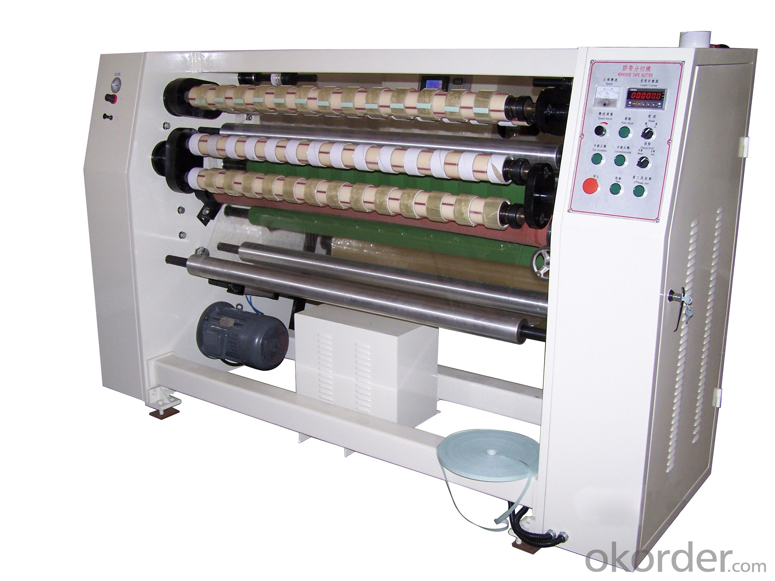 Slitter Machine for Bopp Tape, PET tape, Kraft Paper