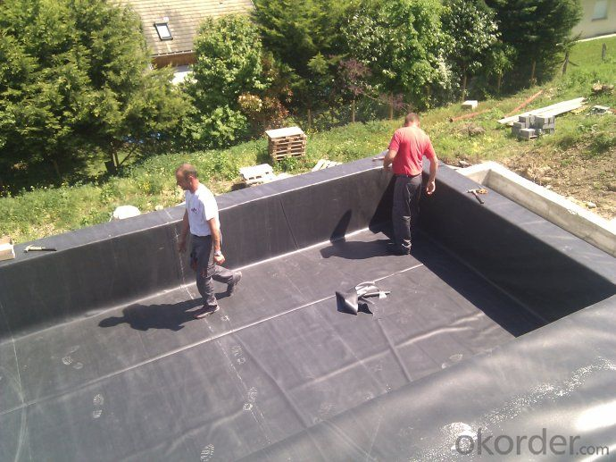 EPDM Waterproof Membrane with Fleeced Back for Liner Ponds