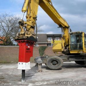 Hydraulic Breaker Excavator Mounted Vibro Hammer High Frequency