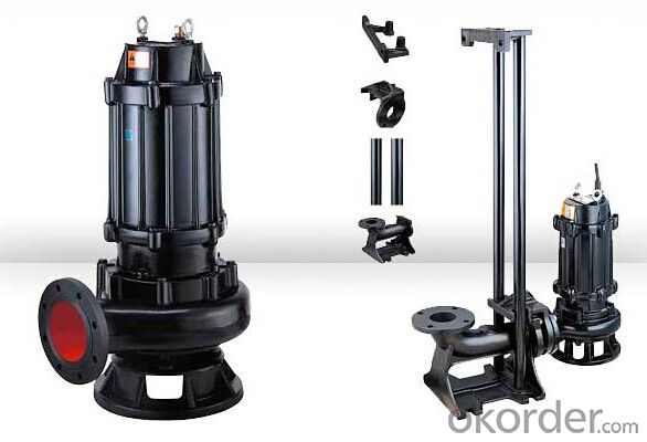 WQ Vertical Sewage Centrifugal Submersible Pump With Good Performance