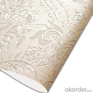 Glass Beads Wallpaper Vinyl Classical Style Glitter Wallpaper