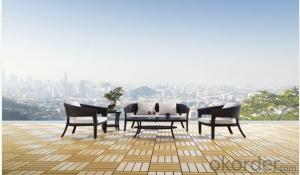 Aluminium Cane Rattan Garden Furniture Set