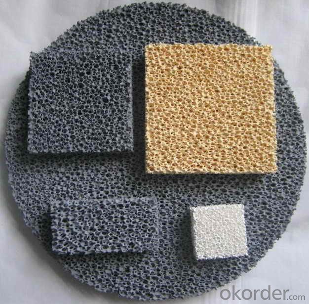 Silicon Carbide Ceramic Foam Filters Excellent Thermal Shock Resistance