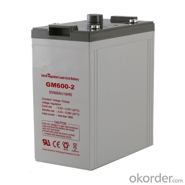 Battery Solar Wind Power System High Temperature 2V 400AH
