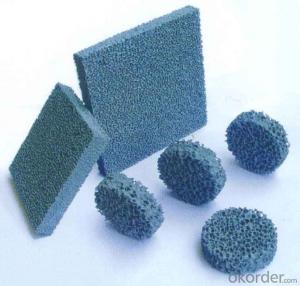 Silicon Carbide Ceramic Foam Filters Good Strength Under High Temperature