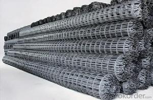 Pvc Coated Polyester Geogrid with CE certificate for Road construction