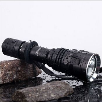 XPE R2 LED Bulb Plastic Reflector 3 Modes Tail Switch Anodized Aluminum Alloy Flashlight