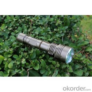 Telescopic Focusing Lens XML T6 LED Bulb 6 Modes Middle Switch Anodized Aluminum Flashlight