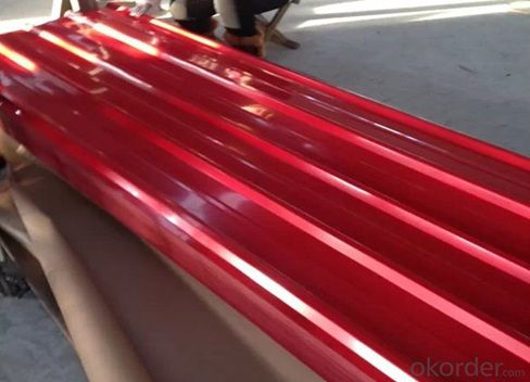 COLORED CORRUGATED STEEL SHEET FOR ROOFING