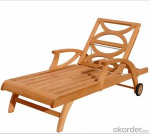 Outdoor Furniture Sling Chair & Table in Aluminum Frame With eco Wood