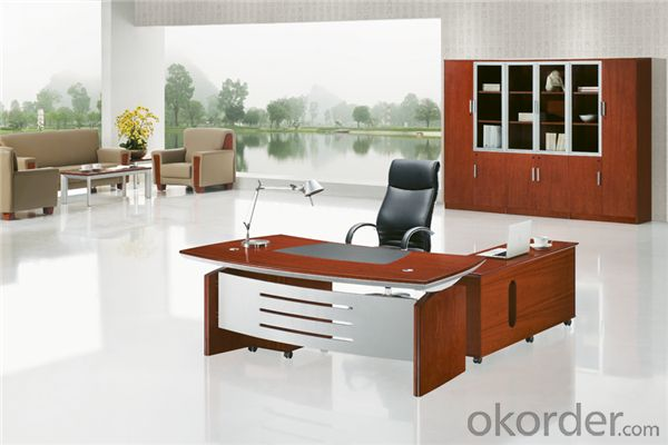 Office Table with Vaneer Painting for Manager
