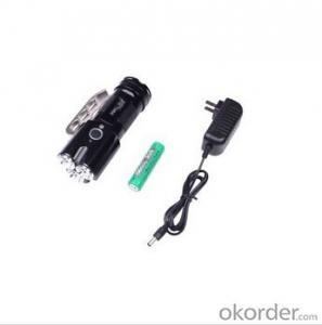 XML T6 Led Bulb 1x18650 or 3xAAA Batt Middle Switch 5 Modes Aluminum Flashlight