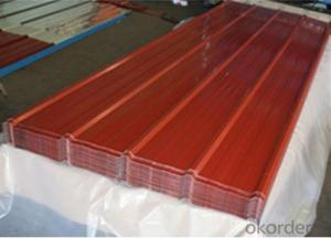 COLD ROLLED WAVE GALVANIZED STEEL SHEET