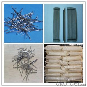 Steel Fibers for Concrete Reinforcement Endhooked