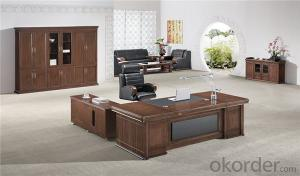 Commercial Executive Desk with MDF and Vaneer