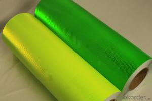 Plain Colorful PVC Reflective Printing Material
