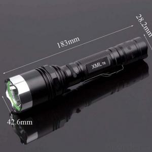 Portable Clip Flashlight Cree T6 LED Bulb Aluminum Reflector 5 Modes 1x18650 Batt Middle Switch
