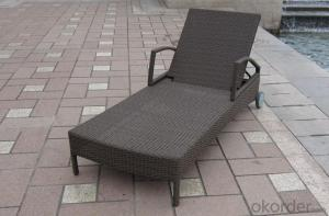 Aluminium Cane Rattan Beach Chair Lounger Chaise