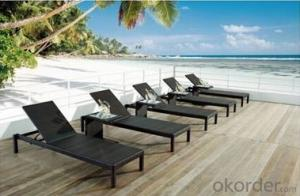 Patio Rattan Furniture Rattan Sand Beach Chair Chaise Lounger