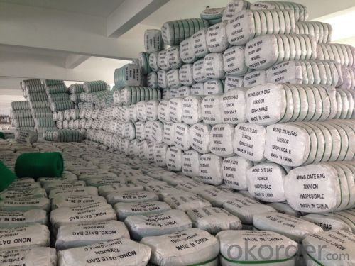HDPE Good Quality Mono Mesh Date bag Green Color