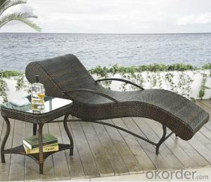 Aluminium Cane Rattan Garden Beach Chair Lounger Chair