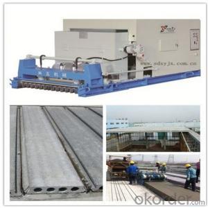 Pushing Method Concrete Hollow Core Slabs Machine