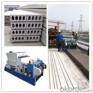 Pushing Method Concrete Hollow Core Slabs Machine
