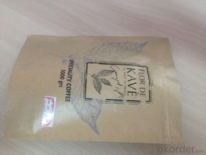 Metalized Polyester Laminated Kraft Paper Zipper Bags