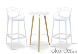 Dinning Chair Plastic & Wood & Metal Model CMAX-PP601