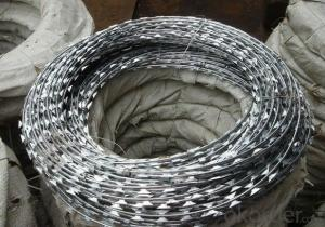 Hot Dipped Galvanzied Razor Wire Galvanized Black Wire