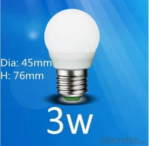 Plastic Bulb Led Lgiht 3w/5w/7w with High Brightness 12v/220v/240v