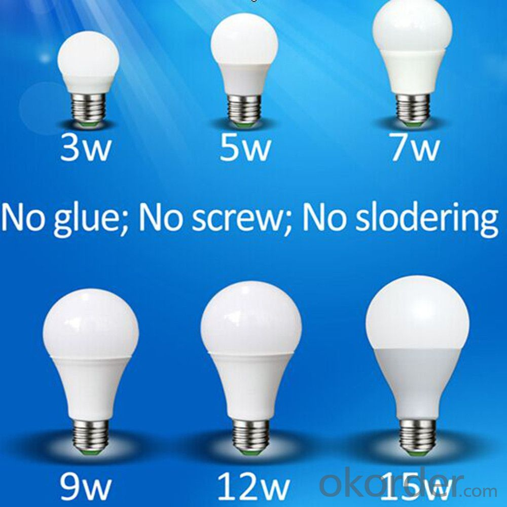 Plastic Bulb Led Lgiht Energy Saving Light Bulb Led With High Lumen