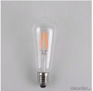 4w Edison Led Filament Bulb Light with Low Price 220v/110v/240v