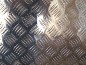 Five Bars Embossed Corrugated Aluminum Sheet