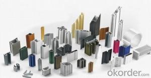 Colored Powder Coated Aluminum Window Extrusions Profiles