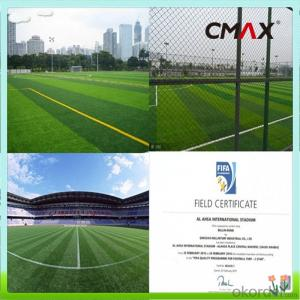 FIFA Monofilament Turf Artificial Grass For Indoor Or Outdoor Soccer , Football Field