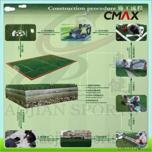 60mm FIFA Soccer Green Or White Artificial Grass Decoration Turf Athletic Fields