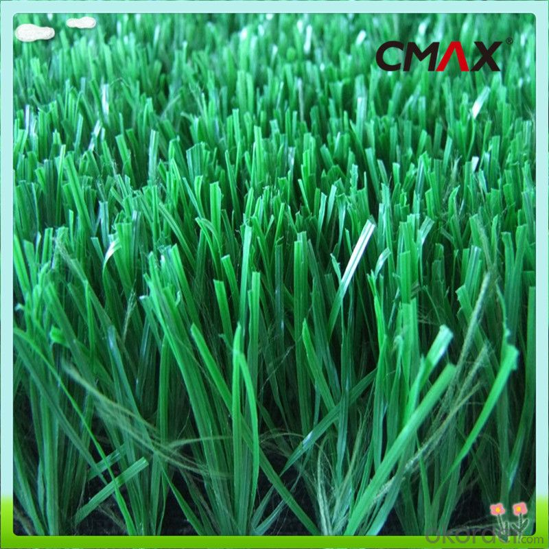 PE Monofilament Yarn Field Green Soccer Artificial Grass 5/8'' Gauge , Height 20mm to 60mm