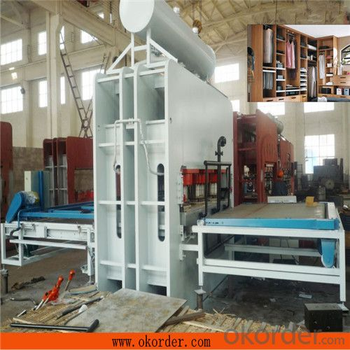 Semi-auto MDF Melamine Laminating Hot Press Machine
