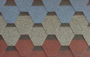 Asphalt Shingles / Colorful Bitumen Roofing Tile