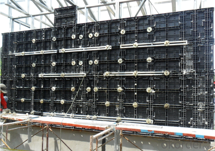 Plastic concrete panel and plastic concrete formwork, plastic formwork for concrete