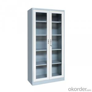 Swing Door Steel Filing Cabinet with Glass CMAX-FC02