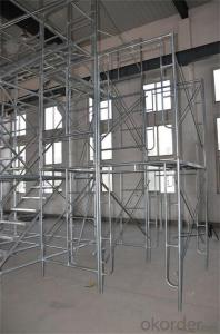 Painted Frame Scaffolding Size Hight quality  for Formwork