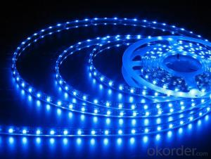 Blue Solar Powered LED Strip Holiday Lights
