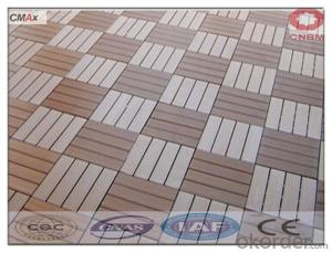 WPC Interlocking Decking Tiles Easy Installation