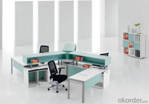Office Working Table Green Color Design