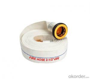 Double jackets rubber fire hose for fire fighting equipment/fire hose