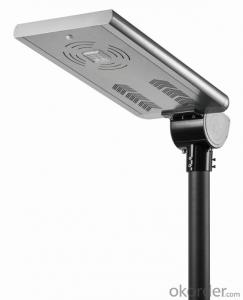 Aluminum die casting IP67 integrated 20w solar street light with 80000 hours lifespan